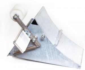 Ein Sicherungssystem für die Umrüstung von z.B. verkabelten Radkeilen mit Sensoren oder mechanischen Schaltgebern auf Basis der Lichtschranken- oder Funktechnik.